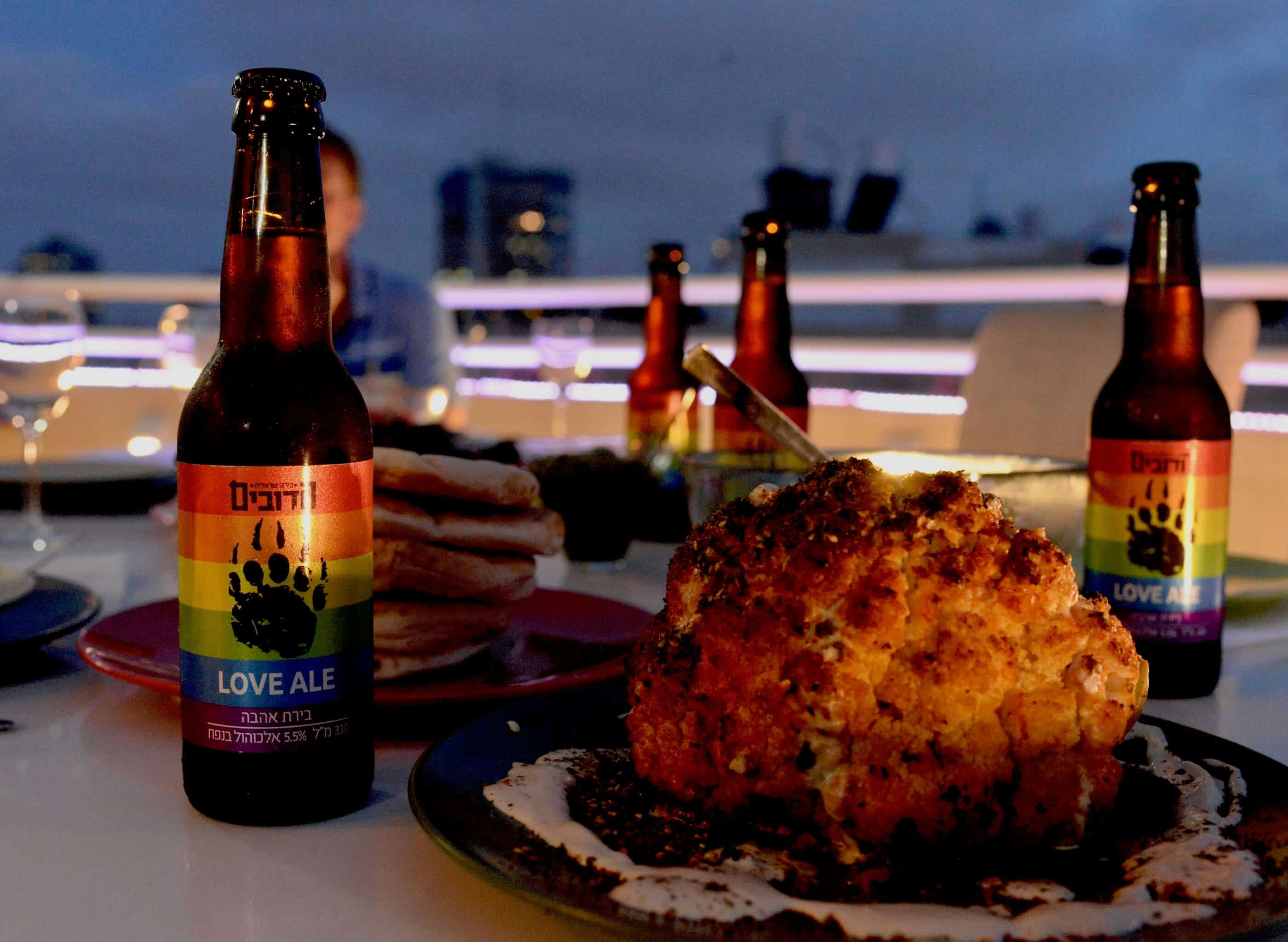 Roasted Israeli Cauliflower with Amber Ale